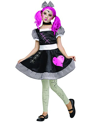Fun World Broken Doll Kids Costume, Multicolor, Large 12-14 -
