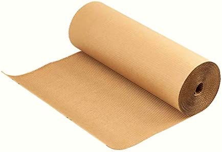 TeleCajas®   Cartón Ondulado en Rollo   Cartón Corrugado Embalaje, Protector de Suelo y para Manualidades   Medidas: 90 cms x 25 mts