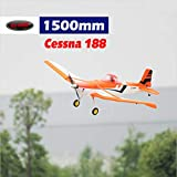DYNAM RC Airplane Cessna 188 Orange 1500mm Wingspan - PNP