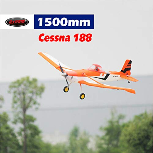 DYNAM RC Airplane Cessna 188 Orange 1500mm Wingspan – PNP