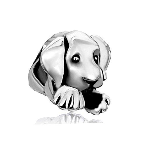 LovelyJewelry Dog Charm Beads Fit Charm Bracelets