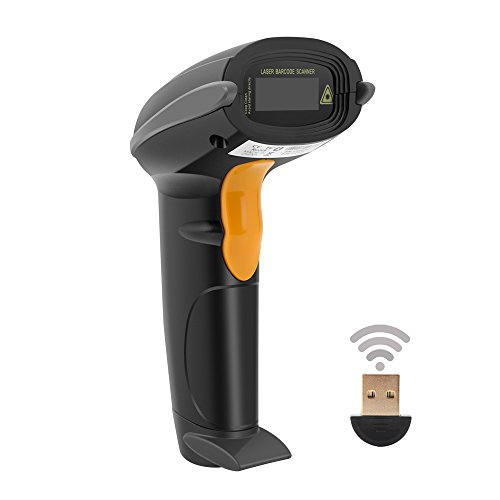 Wireless Barcode Scanner, UNIDEEPLY 1D Bluetooth Handheld Laser Barcode Scanner, with High Speed up to 200scans/sec,Compatible for Smart Phone,Tablet,Laptop and PC, CE,RoHS,FCC Certificate Compliance (Vista Processor Notebooks)