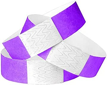 WristCo Purple Unnumbered Wristbands Events product image