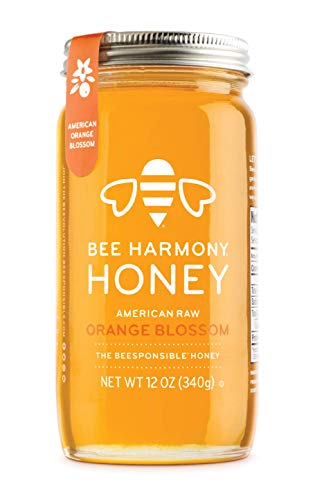 BEE HARMONY American Orange Blossom Honey, 12 OZ - Spread Choc