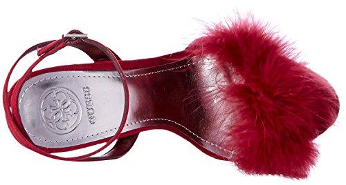 Guess Women's Avis Heeled Sandal Wine Gwn5Wf