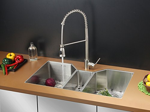 UPC 610370719862, Ruvati RVC2578 Stainless Steel Kitchen Sink and Stainless Steel Faucet Set