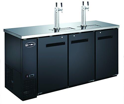 UDD-24-72 Black Kegerator / Beer Dispenser with 2 Tap Towers - (3) 1/2 Keg Capacity ()