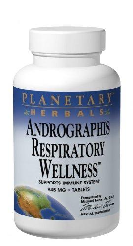 PLANETARY HERBALS Andrographis дыхания оздоровительный Пищевая добавка, 120 Граф