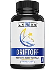 [US Deal] Save on DRIFTOFF Premium Sleep Aid with Valerian Root & Melatonin - Sleep Well, Wake Refreshed - Non Habit Forming Sleep Supplement - Also Includes Chamomile, Tryptophan, Lemon Balm & More - 60 Veggie Caps. Discount applied in price displayed.