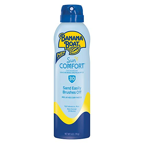 Banana Boat Sunscreen SunComfort Ultra Mist Broad Spectrum Sun Care SunScreen Spray SPF 30, 6 Ounce,Packaging May Vary.