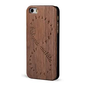 Froolu ? Real Wood Engraved iPhone 4 and 4s Case - Hakuna Matata Infinity