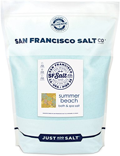 Summer Beach Bath Salts 20 lb. Bulk Bag by San Francisco Salt Company (Light Fine Bath)