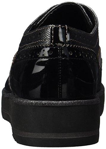 Marco Tozzi Richelieu Black Noir Femme 23701 comb Met w1qwfAOPc
