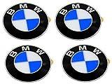 BMW Wheel Center Cap Emblems (4) OEM 64.5mm E46 E60 E90 E92; 36136767550