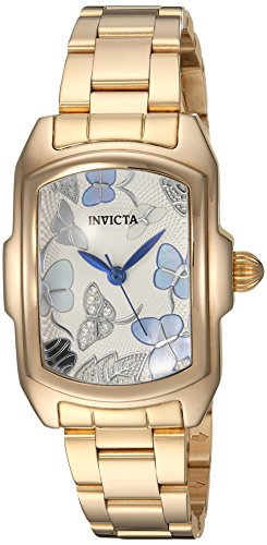 Invicta Women's Lupah Quartz Watch with Stainless-Steel Strap, Gold, 16 (Model: 23219) - Invicta Baby Lupah