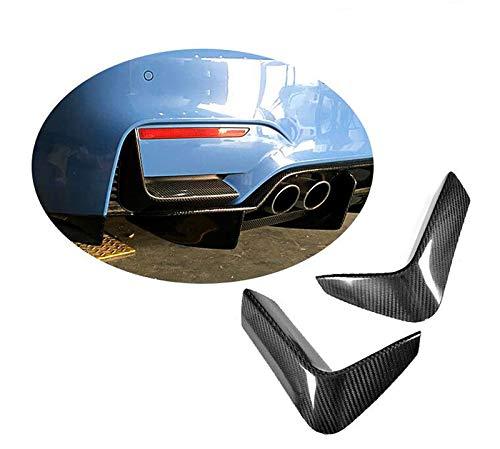1 Pair of Car Carbon Fiber Rear Bumper Lower Corner Valance Covers Splitter Spoilers fit for BMW F80 M3 F82 F83 M4 2015-2017