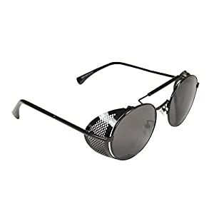 Historical Emporium Men's Chrononaut Steampunk Sunglasses Black