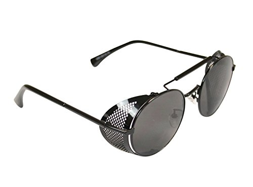 Historical Emporium Men's Chrononaut Steampunk Sunglasses Black
