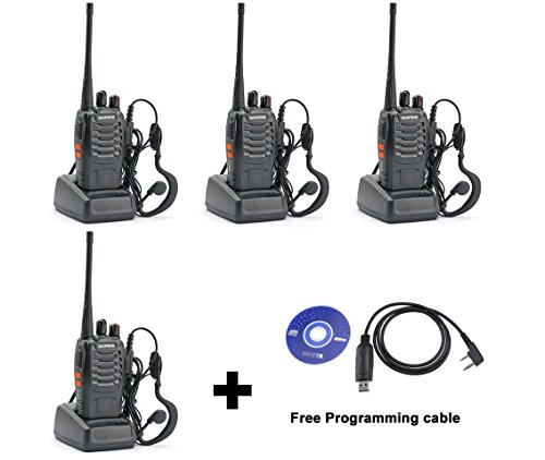 TOMSENN 4 Pack BaoFeng BF-888S Two-Way Ham Radio, UHF 400-470 MHz Portable Handheld FM Transceiver+Free USB Programming (Fm Transceiver)