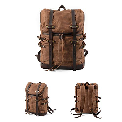 Blue color Daypack Travel Hombres Canvas Backpack Brown School Mochila Cvthfyky Bag Laptop Senderismo Vintage Para O7qR8xwa