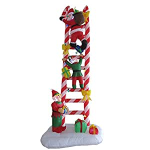 Inflatable 8 ft lighted animated santa claus for Amazon christmas lawn decorations