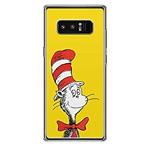 Loud Universe Dr Seuss Face Mask Samsung Note 8 Case Yellow and red Samsung Note 8 Cover with Transparent Edges