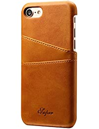 Ultra Slim PU Leather Wallet Phone Case with 2 Cards Slots Phone Cover for iPhone 7/7 Plus/8/8Plus