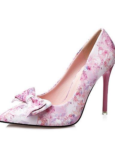 us8 pink eu39 pink Puntiagudos Punta Vestido us8 cn39 Mujer cn39 uk6 us8 pantuflas Cerrada Semicuero Zuecos Tacón Azul uk6 y Tacones Rosa eu39 GGX uk6 Stiletto pink cn39 eu39 S4Hawq