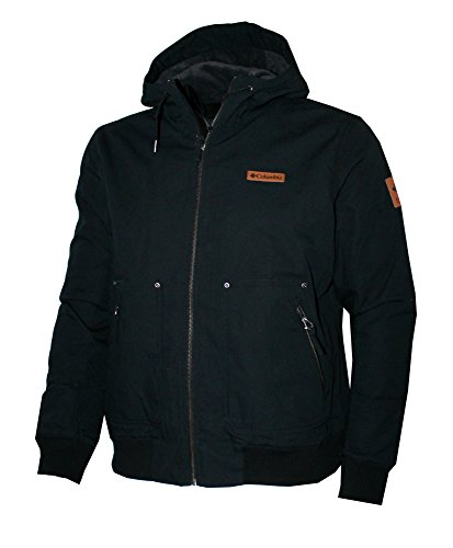Columbia Men Larix Park Hooded Fleece Lined Water Resistant Cotton Blend Bomber Jacket (L)