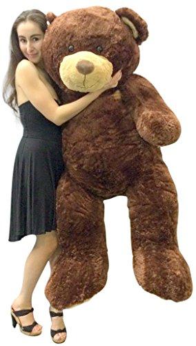 Big Plush 5 Foot Teddy Bear Soft Brown Premium Giant Stuffed Animal 60 Inch Snuggle Buddy