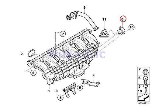 BMW Genuine Intake Manifold Absolute Pressure Sensor (Map Sensor) 535i 535xi 535xi X5 M X5 50iX X6 35iX X6 50iX X6 M Hybrid X6 135i M Coupé 135i Z4 35i Z4 35is 335i 335xi 335i 335xi 335i 335xi 335is 335i 335is 740i 750i 750iX ALPINA B7 ALPINA B7X 740Li 750Li 750LiX 760Li ALPINA B7L ALPINA B7LX 760Li Hybrid 7 Hybrid 7L 5 ()
