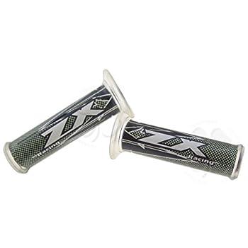 """Grips - Kawasaki - ZX"""" Logo - Black"""""""