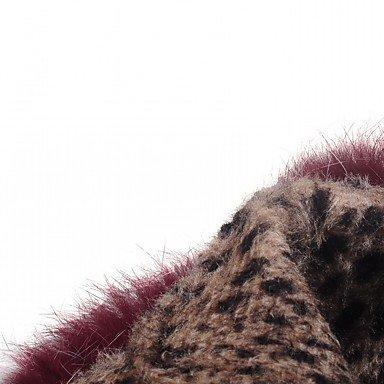 Heart&M Damen Schuhe Kunstleder Herbst Winter Komfort Neuheit Stiefeletten Stiefel Blockabsatz Spitze Zehe Booties Stiefeletten Tupfen Für black