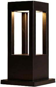 XAJGW Outdoor Post Light Fixture, LED Column Head Lamp IP55 Waterproof Outdoor Column Lamp Modern Minimalist Post Lamp Lawn Garden Landscape Lamp Garden Villa Outdoor Chinese Floor Lamp Pillar Lantern