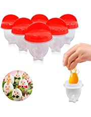 Egg Cooker Silicone, Egg Cooker Without Shell Easy Eggs, Non Stick Silicone Boiled Steamer Eggies, Maker Egg Cooker BPA Free Non-Stick Eggs Poacher, Fast Poaching For Kitchen Gadgets Accessories…