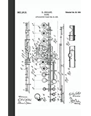 Flute: Vintage Flute Patent Art Music Sheet Notebook for Flautists and Fans of Music