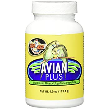 Zoo Med Laboratories Bzma374 Avian Plus Bird Vitamins, 4 oz