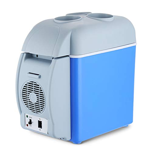- MAMASAM Mini Car Refrigerator Can Keep Cooler and Warmer Portable Household Refrigerator with Cup Holder 7.5l Capacity