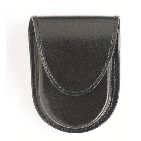 Gould & Goodrich B583W Round Bottom Handcuff Case Place On Belt Up to 2-1/4-Inch (Black Weave)