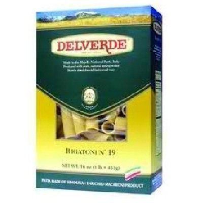 Delverde Delvrd Rigatoni Pasta 16 oz (Pack Of 12) by Del Verde