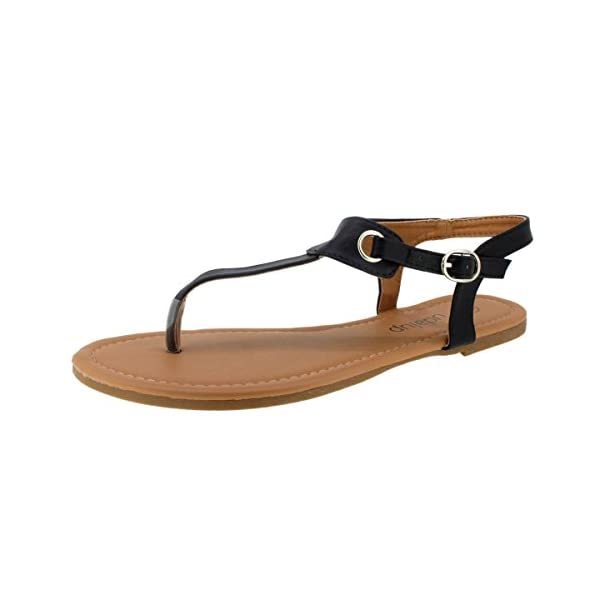 9154e6b54e037 SANDALUP Women s Claire Thong Flat Sandals with Buckle