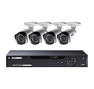 Lorex 8-Channel 4 Bullet Cameras w/ 1TB 1080p HD HDD DVR Security System