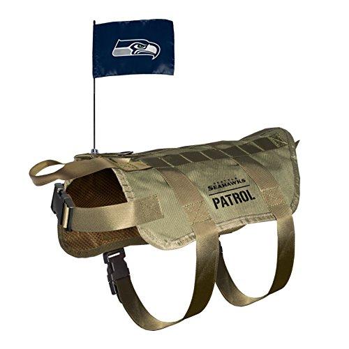 NFL Seattle Seahawks Pet Tactical Vest, XL/Big Dog 28 Seattle Seahawks Jersey