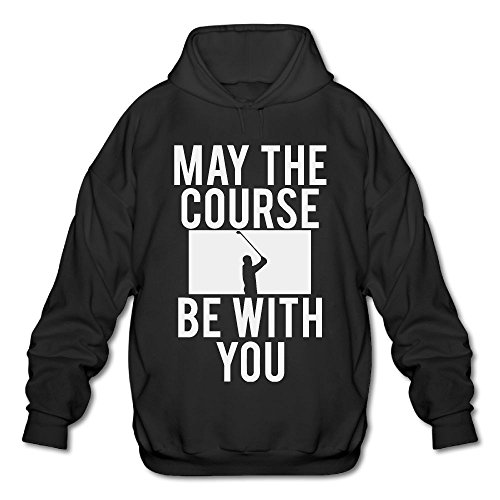 May The Course Be With You Golfmen With Cap Without Pocket Sweater Takeofffashion Casual Sweater Hooded Sweatshirt