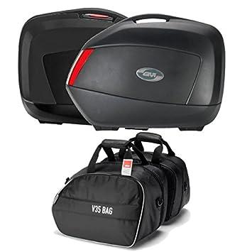 Mim Distribution Par Maletas con bolsos internos GIVI V35 N: Amazon.es: Coche y moto