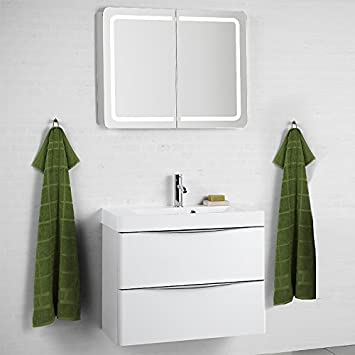 badezimmer set hochglanz weiss badezimmermobel waschplatz bad mobel gaste wc