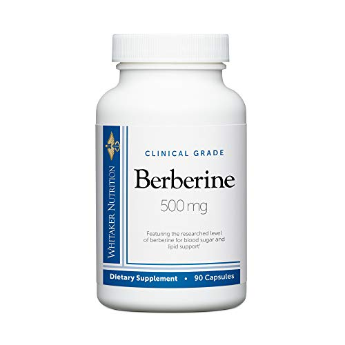 Dr. Whitaker's Clinical Grade Berberine 500 mg Supplement to Support Blood Sugar, Cholesterol, and Insulin Sensitivity (90 Capsules) (Diet For High Blood Sugar And Cholesterol)