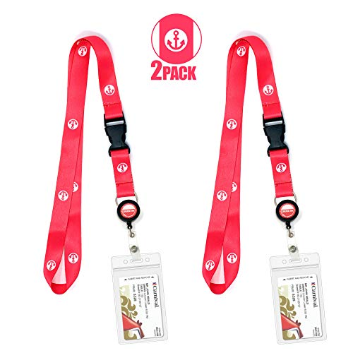 Cruise Lanyard ID Holder Ship Card Lanyards & Accessories by Cruise On - fits Carnival, Royal Caribbean, Disney & All Cruises Ships Key Cards with Retractable Badge Reel & Waterproof Pouch [2 Pack] (Best Time To Go To Bermuda Cruise)