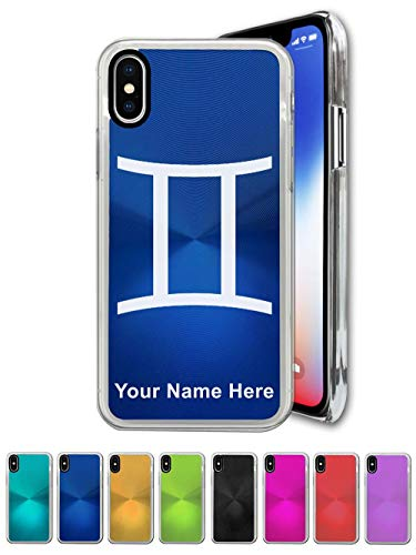 Case Compatible with iPhone XR, Zodiac Sign Gemini, Personalized Engraving Included