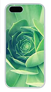 iPhone 5s Cases & Covers - Green Plant Close Up PC Custom Soft Case Cover Protector for iPhone 5s - White